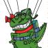 Dino w parachut