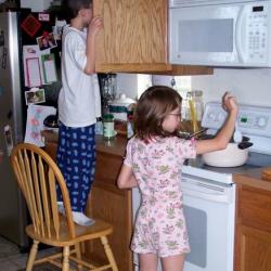 Jaden & Joely cooking