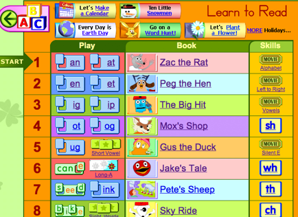 starfall phonics curriculum - Starfall Printable Books