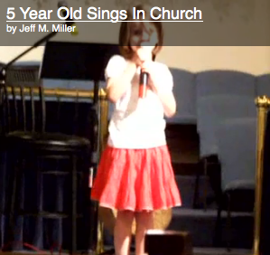 Joely singing at church