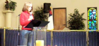 Jerah singing at church