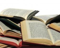 Book pile open