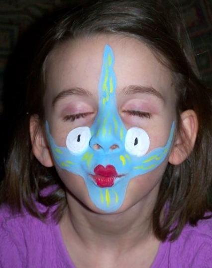 Painted Fish Face