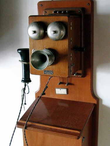 the party line telephone in early s