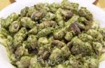 Chicken Basil mushroom Fettuccine