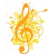 Music Staff Gold