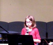 Singing at church
