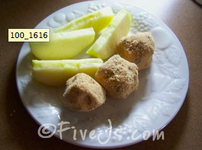 Peanut Butter Ball with apples