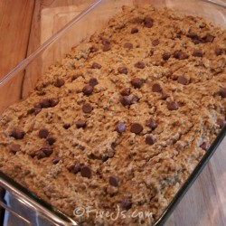 Chocolate Peanut Butter Baked Oatmeal