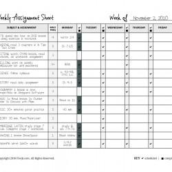 sampleweeklyassignmentform