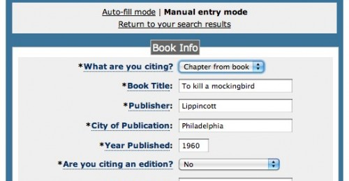 Easybib APA MLA Chicago Format Citation Machine Generator