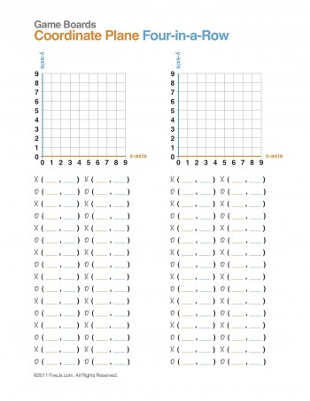 Download the Coordinate Plane Four-in-a-Row directions and game sheet ...