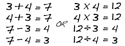 math worksheet : number bonds math facts families chart and worksheet  five j s  : Fact Family Math Worksheets