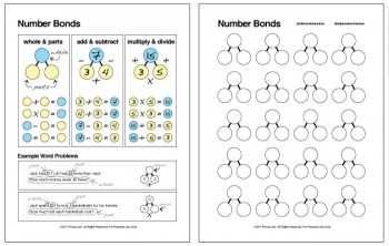 Printables Number Bond Worksheets number bonds math facts families chart and worksheet five js download the bond here