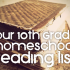 high school reading book list for homeschool