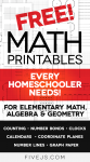 Free Math Printables Every Homescho