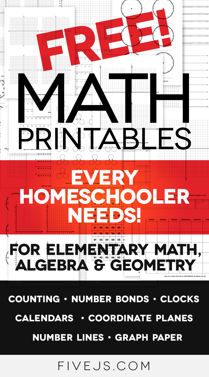Free Math Worksheet Printables: Clocks, Graph Paper, Coordinate ...