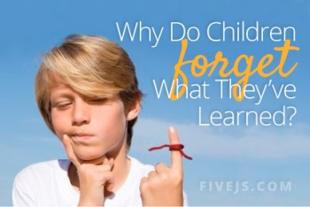 Why do children forget what they've learned? #homeschool