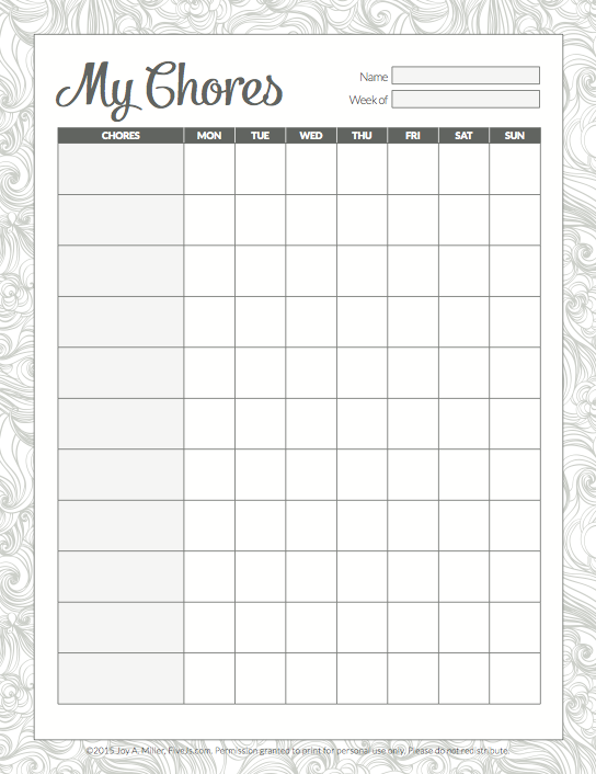 Free 2016-2017 Printable Homeschool Planner - Five J's