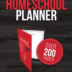 Free printable homeschool planner. Over 200 pages of fabulous printables and organizers to help you plan your homeschool year. #homeschool