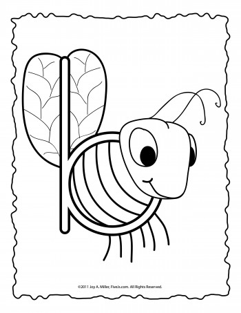 B and D coloring page