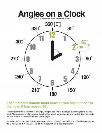 Math angles worksheets