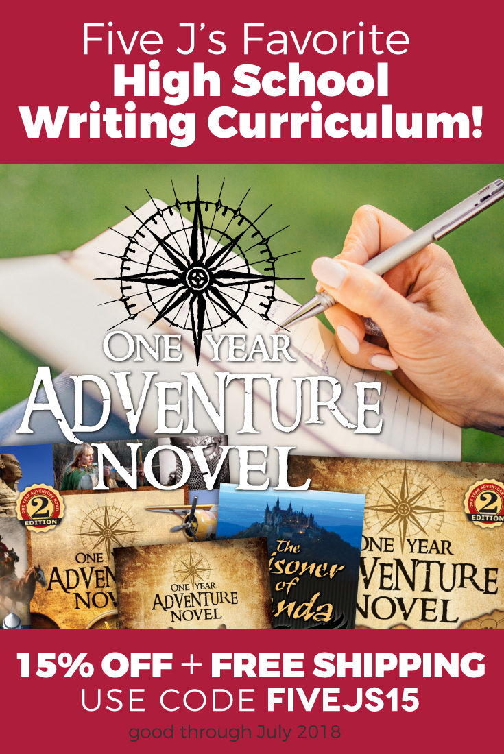 One Year Adventure Novel Homeschool Writing Curriculum Review (and coupon!)