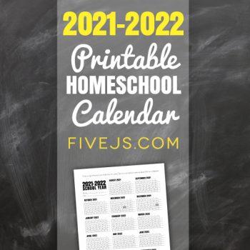 Free Printable School Calendar for 2021-2022